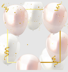 Celebration design with baloon color pink and vector