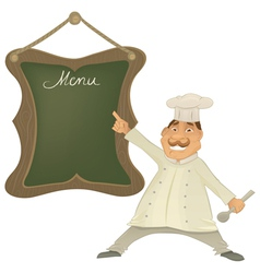 chef with menu character vector image