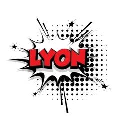 Comic text lyon sound effects pop art vector