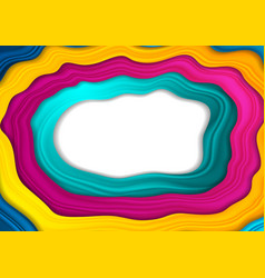 Corporate abstract background with colorful waves vector