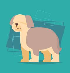 cute dog poster new year 2018 zodiac symbol icon vector image