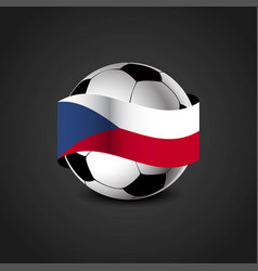Czech republic flag around the football vector