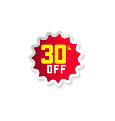 discount 30 off template design vector image