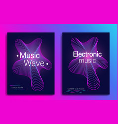 dynamic gradient shape music flyer design with vector image