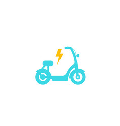 Electric bike scooter icon vector