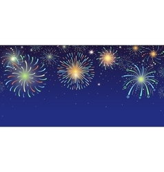 Festive banner with bright colorful firework vector