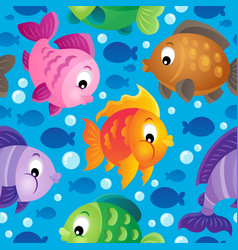 Fish theme seamless background 2 vector