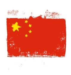Flag of China on a white background vector