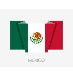 Flag of Mexico Flat Icon Wavering vector image