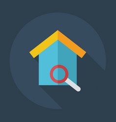 Flat modern design with shadow icons nesting box vector