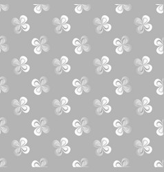 floral print with shamrock st patrick s day vector image
