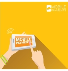 Flsmartphone processing of mobile payments vector image