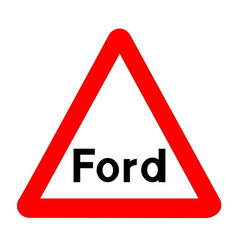 ford traffic sign isolated vector image