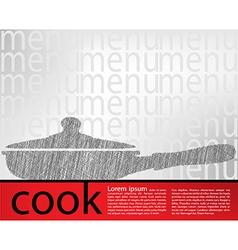 Frying pan kitchen utensils vector image