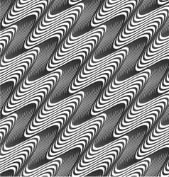 Gray diagonal wavy texture with gradient vector