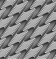 Gray diagonal wavy texture with gradient vector