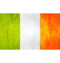 Irish grunge flag vector image