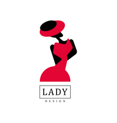 Lady design logo fashion beauty salon studio or vector