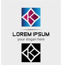 Letter K logo symbol icon vector image