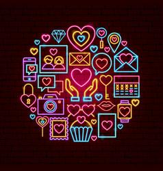 Love neon concept vector