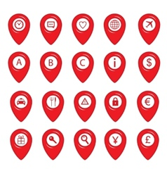 Mapping pins icons vector