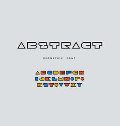 Minimal font abstract geometric alphabet vector