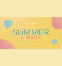 minimal font creative modern alphabet typography vector image