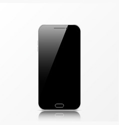 modern black touchscreen cellphone tablet vector image