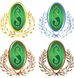 Money wreath vector