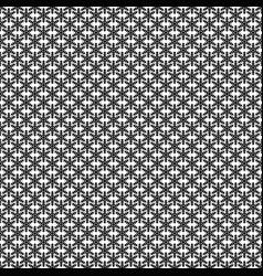 Monochrome simple stylized snowflake pattern vector