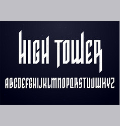 old school font condensed typography vector image