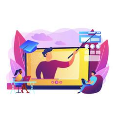 Online workshop concept vector