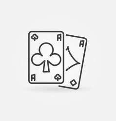 Pair clubs and diamonds aces concept vector