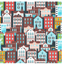 pattern with city buildings vector image