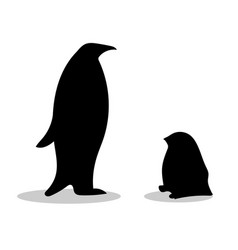 penguin symbol family loyalty vector image