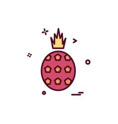 pineapple icon design vector image