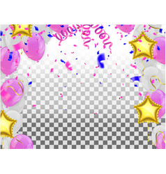 Pink balloons on white background balloon pink vector