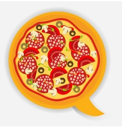 Pizza speech bubble vector image