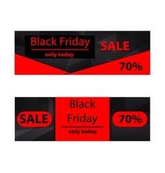 Polygonal banners Black Friday vector