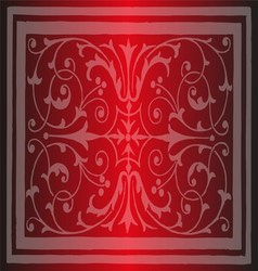 Red Floral Luxury Ornamental Pattern Background vector