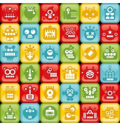 Robots on buttons vector image