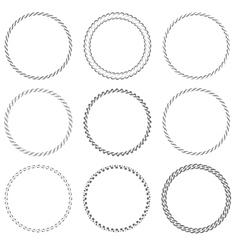 Round frames vector