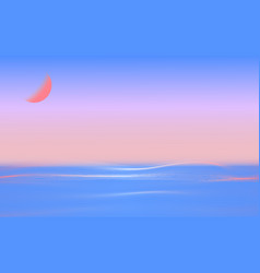 sea line landscape vector image