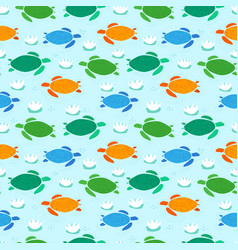 seamless pattern with colorful childish style vector image