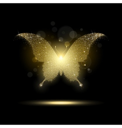 Shiny Golden Butterfly vector