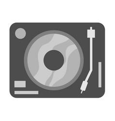 Simple black turntable vector