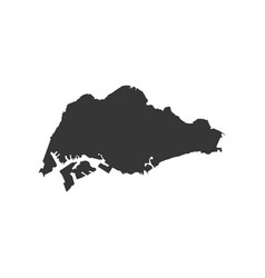 singapore map silhouette vector image