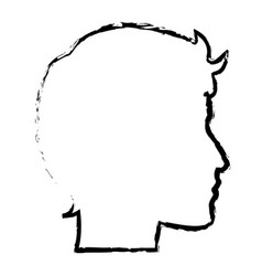 Sketch profile head man character vector