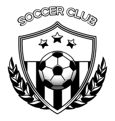 Soccer club logo on white vector