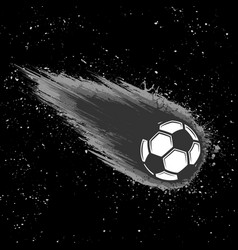 space comet soccer background vector image
